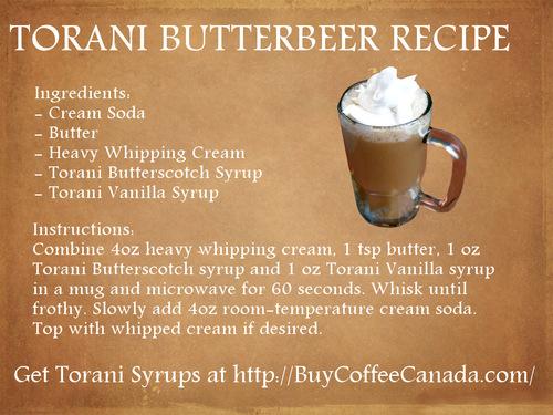 Torani ButterBeer Recipe